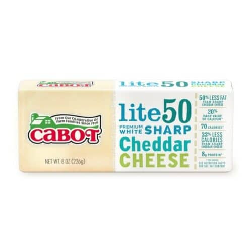 Cabot 50% Reduced Fat White Cheddar Bar  (12 pc)