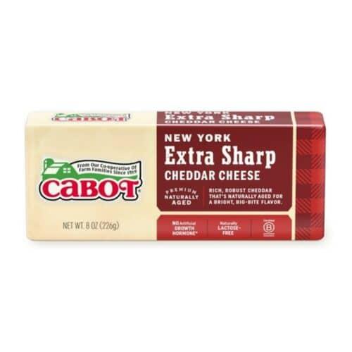 Cabot NY Extra Sharp Yellow Cheddar Bar  (12 pc)