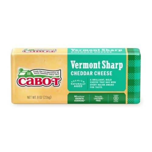 Cabot Vermont Sharp White Cheddar Bar  (12 pc)