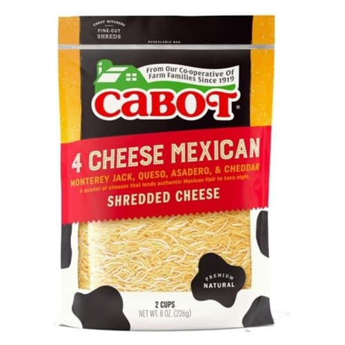 Cabot Shredded 4 Cheese Mexican  (12pc)