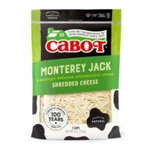 Cabot Shredded Monterey Jack  (12pc)