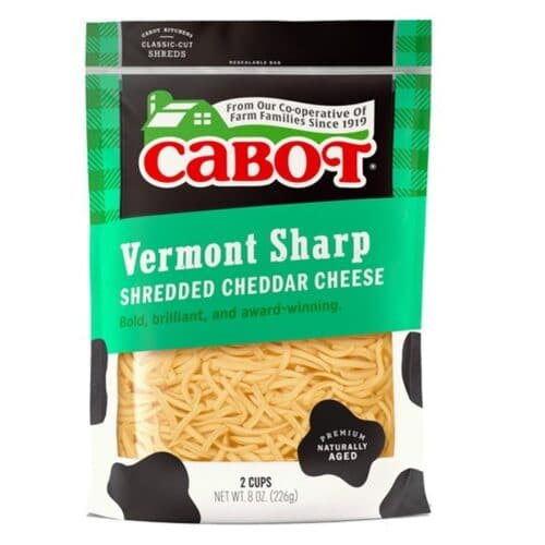 Cabot Shredded Sharp Yellow Cheddar  (12 pc)