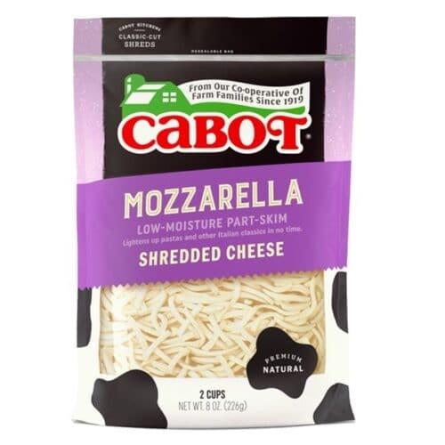 Cabot Shredded Sharp Mozzarella Low-Moisture Part Skim  (12 pc)