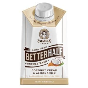 Califia Farms Better Half Unsweetened Coconut Cream & Almondmilk  (6/16.9oz)