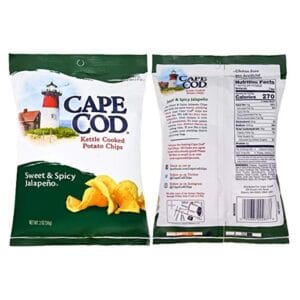 Cape Cod kettle Potato Chips Sweet & Spicy Jalapeno