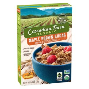 Cascadian, Org. Cereal Granola Maple Brown Sugar