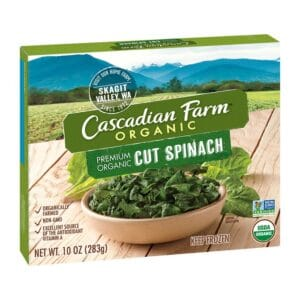 Cascadian, Org. Frozen Spinach Chopped Boxed