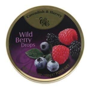 Cavendish & Harvey Wild Berry Fruit Tins