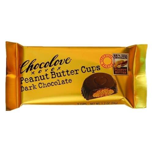 Chocolove Peanut Butter Cups Dark Chocolate