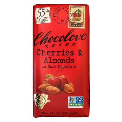 Chocolove Cherries & Almonds Dark Chocolate 55%