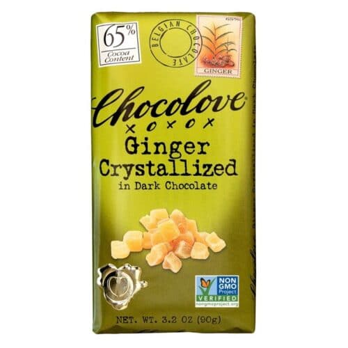Chocolove Crystalized Ginger Rich Dark Chocolate 65%