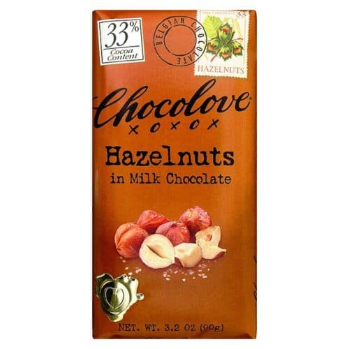 Chocolove Hazelnuts Milk Chocolate 33%