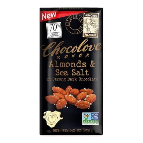 Chocolove Almonds & Sea Salt in Dark Chocolate 70%