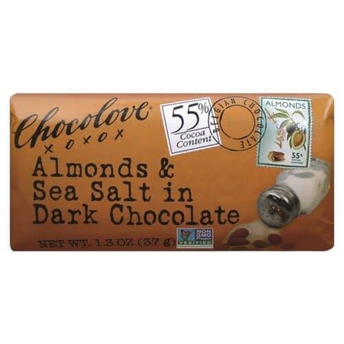 Chocolove MINI Almonds & Sea Salt  Dark Chocolate 55%