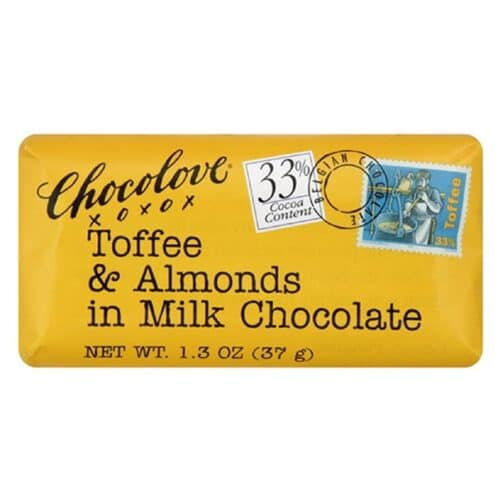Chocolove MINI Toffee & Almonds Milk Chocolate 33%