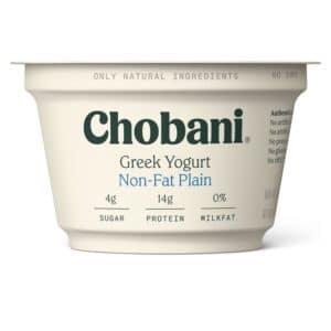 Chobani Greek Yogurt 0% Fat Plain