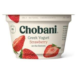 Chobani Greek Yogurt 0% Fat Strawberry