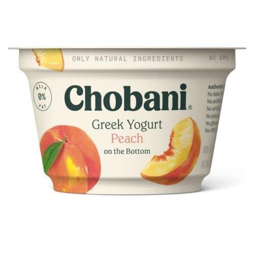 Chobani Greek Yogurt 0% Fat Peach