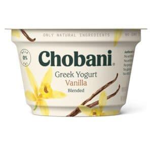 Chobani Greek Yogurt 0% Fat Vanilla