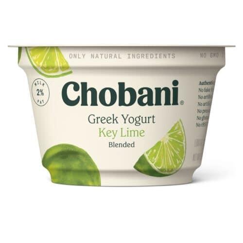 Chobani Greek Yogurt 2% Fat Key Lime Blended