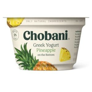 Chobani Greek Yogurt 2% Fat Pineapple