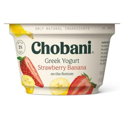 Chobani Greek Yogurt 2% Fat Strawberry-Banana