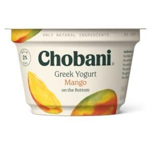 Chobani Greek Yogurt 2% Fat Mango