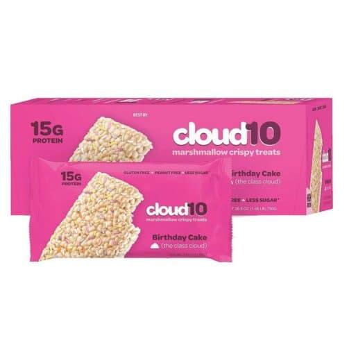 Cloud 10 Marshmallow Crispy Birthday Cake