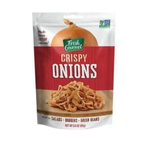 Fresh Gourmet Crispy Onions Lightly Salted