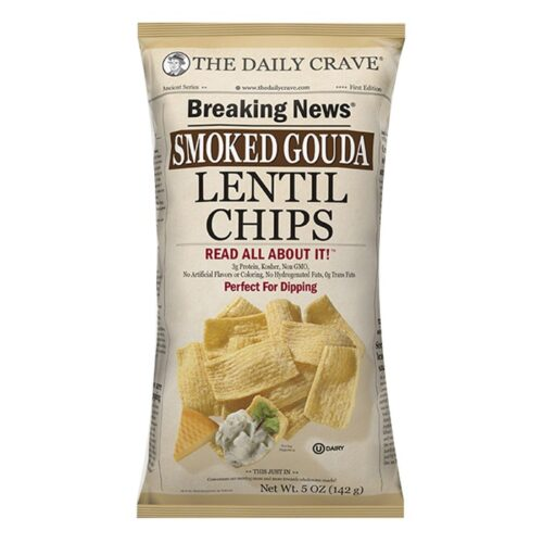 The Daily Crave Lentil Chips Smoked Gouda