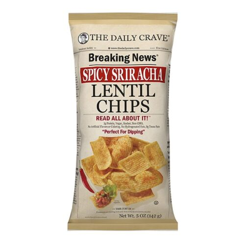 The Daily Crave Lentil Chips Spicy Sriracha