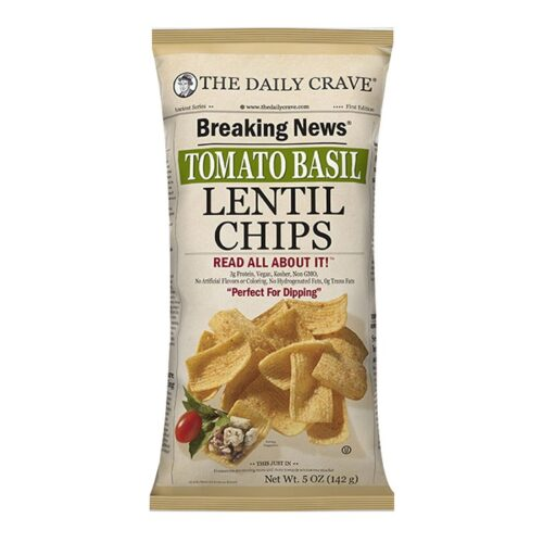 The Daily Crave Lentil Chips Tomato Basil