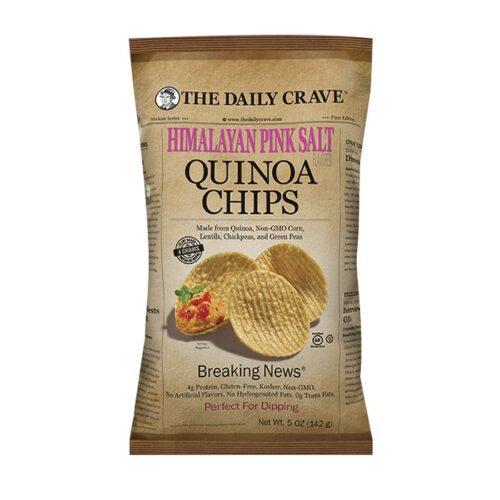 The Daily Crave Quinoa Chips Himalayan Pink Salt