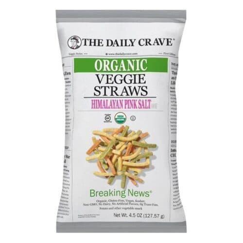 The Daily Crave Organic Veggie Straws Himalayan Pink Salt