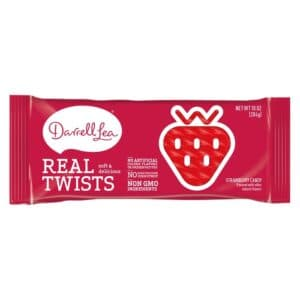 Darrell Lea Real Twist Strawberry Candy