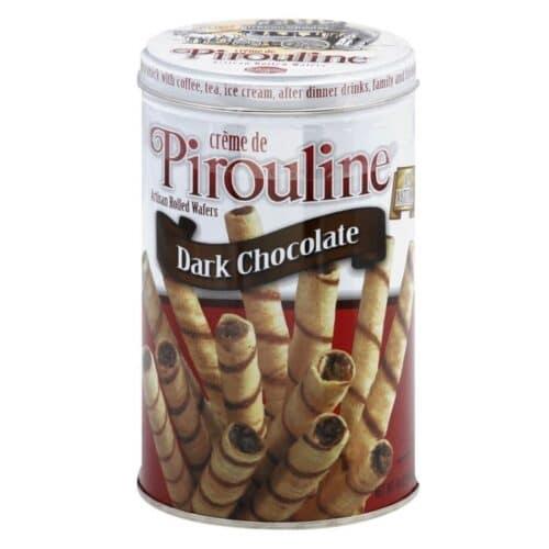De Beukelaer Creme de Pirouline Dark Choco (Tin)  (