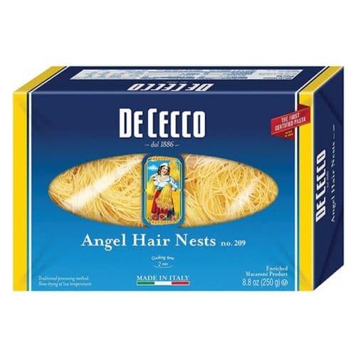 De Cecco Angel Hair (Angel Hair Nests) n.209 (VSV2209)(12/8.8oz)
