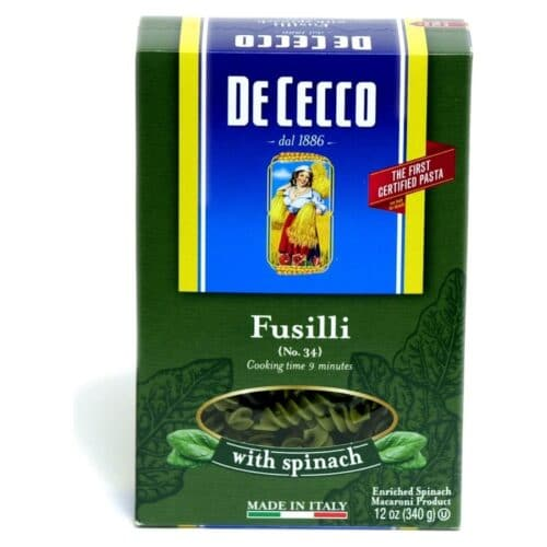 De Cecco Spinach Fusilli  n.34 (VKP0034)