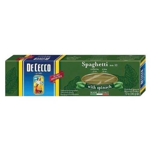 De Cecco Spinach Spaghetti n.12  (VKP0012)
