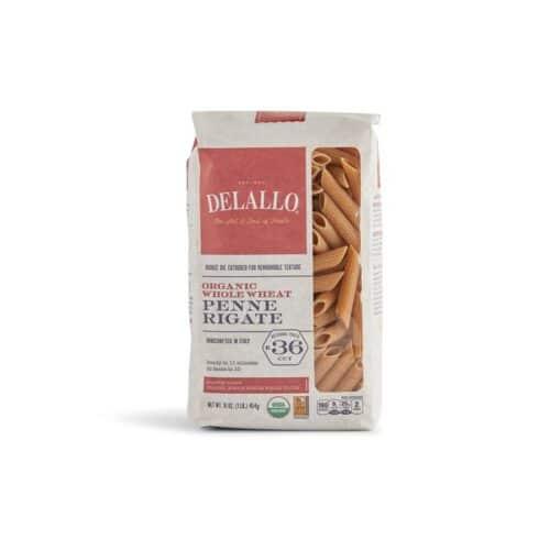 DeLallo Organic Whole Wheat Penne Rigate #36