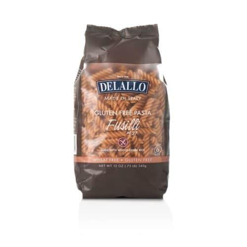 DeLallo Gluten Free Pasta Whole Grain Rice Fusilli