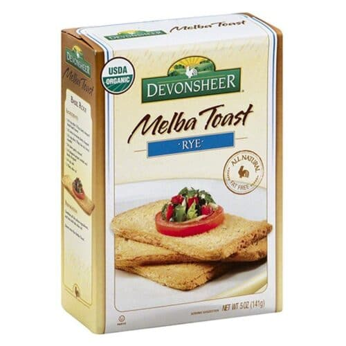 Devon. Melba Toast Organic - Rye