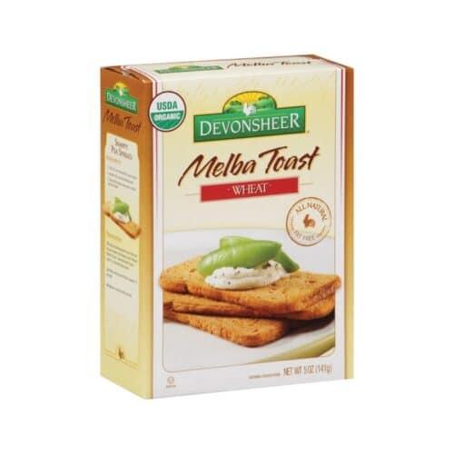 Devon. Melba Toast Organic - Wheat
