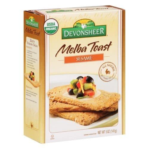 Devon. Melba Toast Organic - Sesame