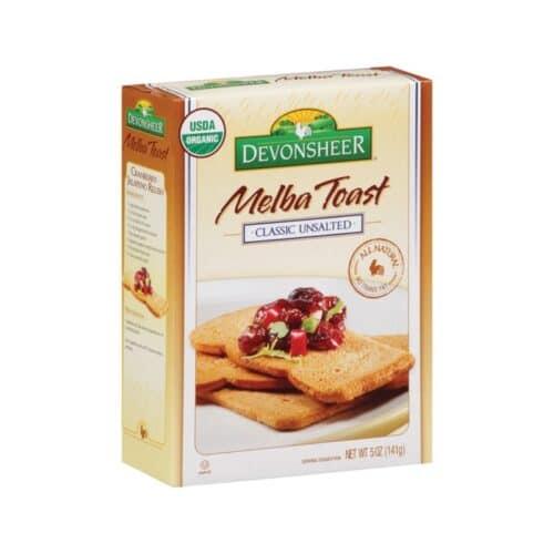 Devon. Melba Toast Organic - Unsalted Classic