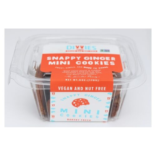 Divvies Cookies Mini Snappy Ginger