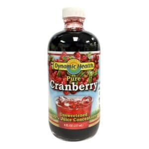 Dynamic Health Pure Cranberry Unsweetened (8oz, Glass)