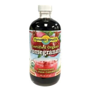 Dynamic Health Organic Pomegranate Unsweetened (8oz, Glass)