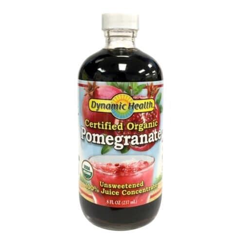 Dynamic Health Organic Pomegranate Unsweetened (8oz, Glass)