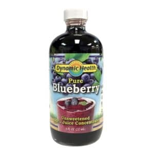 Dynamic Health Pure Blueberry Unsweetened (8oz, Glass)